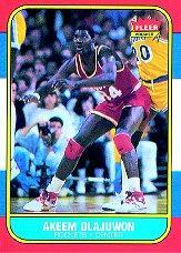 1986-87 Fleer #82 Hakeem Olajuwon RC