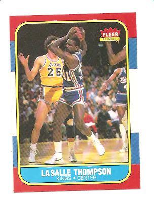 1986-87 Fleer #110 LaSalle Thompson RC