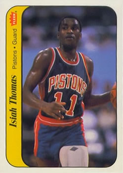 1986-87 Fleer Stickers #10 Isiah Thomas