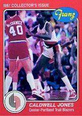 1986-87 Trail Blazers Franz #7 Caldwell Jones