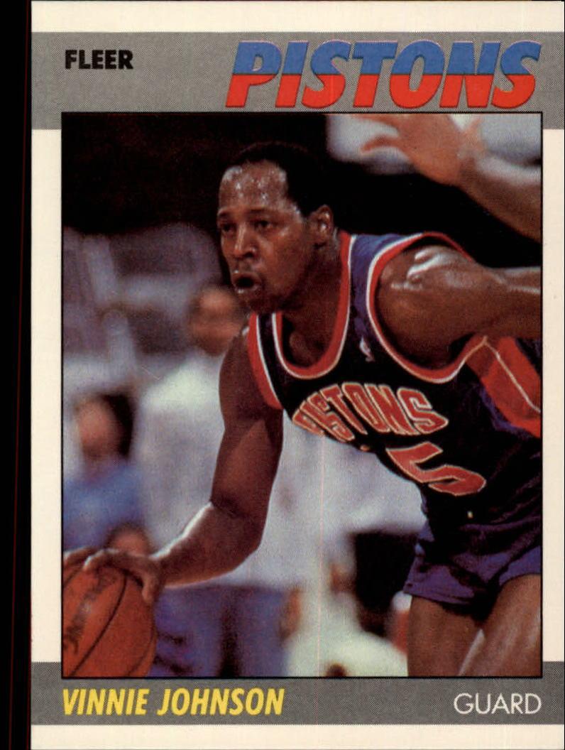 1983-84 Star #89 Vinnie Johnson Detroit Pistons Basketball Card Basketbal
