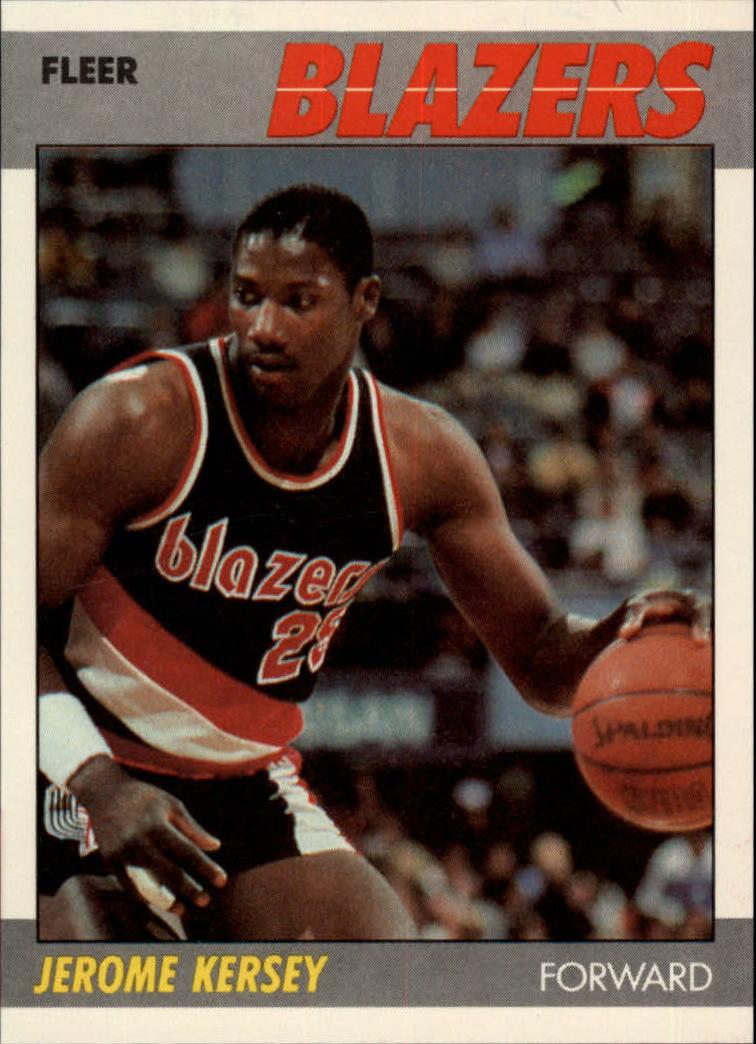 1987-88 Fleer #60 Jerome Kersey RC