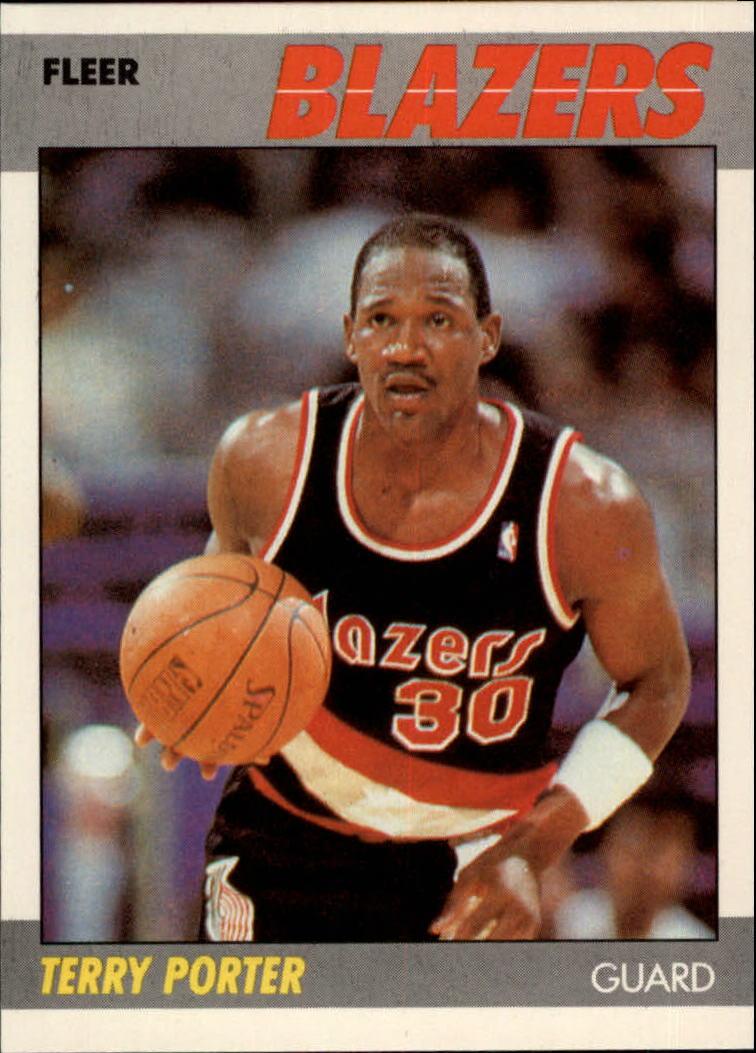 1987-88 Fleer #89 Terry Porter RC/(College Wisconsin,/should be Wisconsin-Stevens Point)