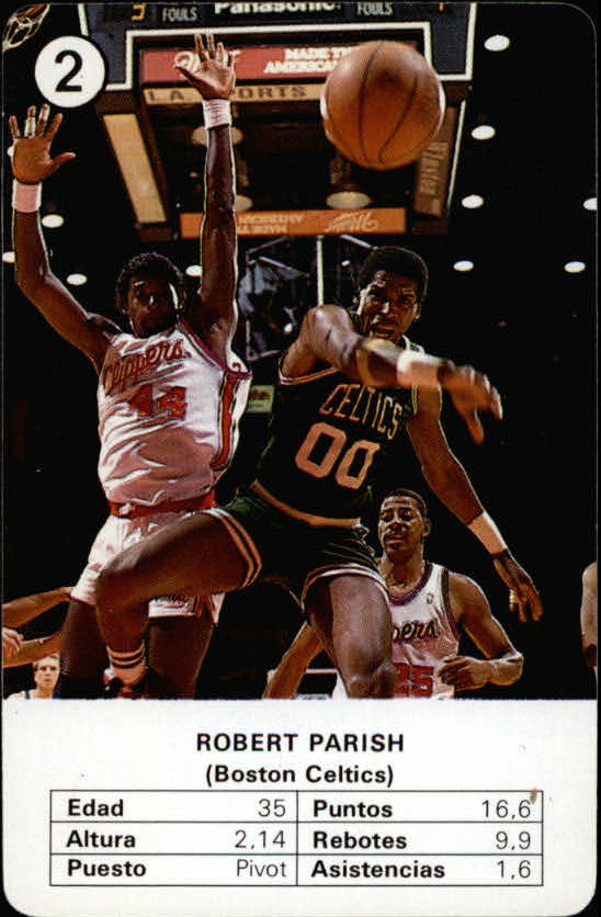 1988 Fournier NBA Estrellas #2 Robert Parish