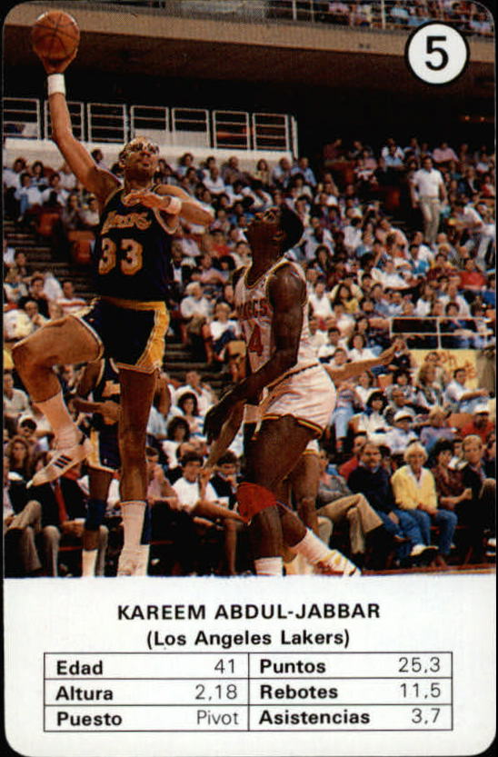 1988 Fournier NBA Estrellas #5 Kareem Abdul-Jabbar