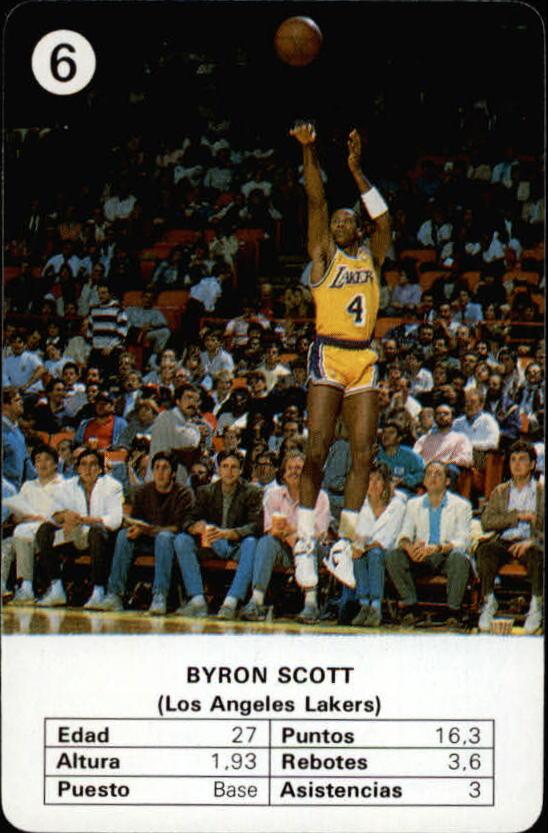 1988 Fournier NBA Estrellas #6 Byron Scott