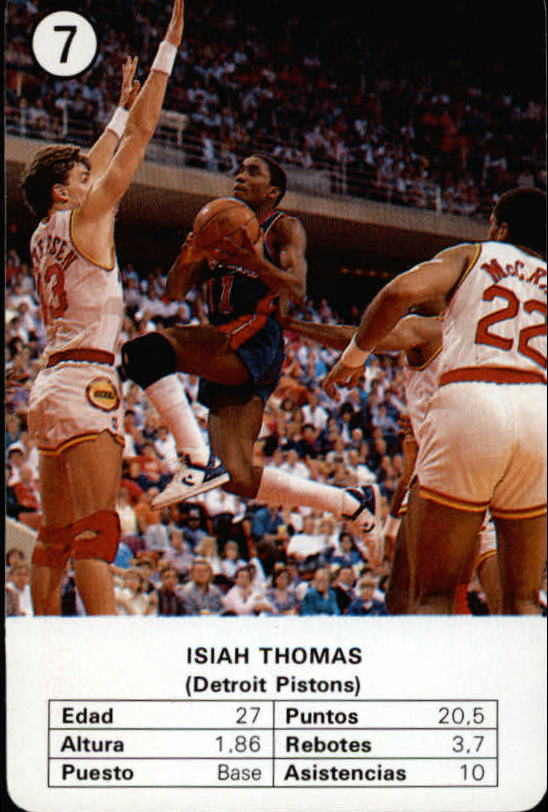 1988 Fournier NBA Estrellas #7 Isiah Thomas