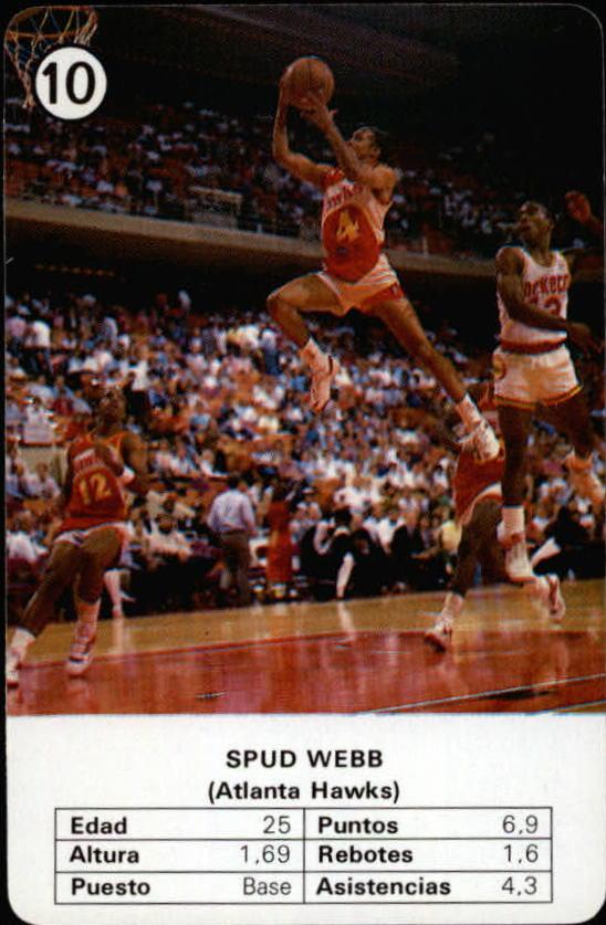1988 Fournier NBA Estrellas #10 Spud Webb