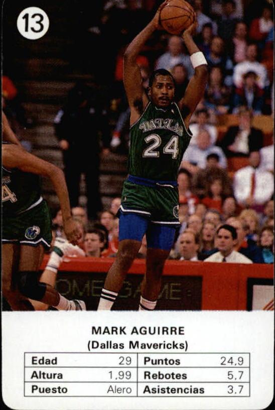 1988 Fournier NBA Estrellas #13 Mark Aguirre