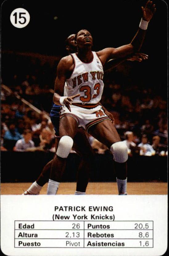 1988 Fournier NBA Estrellas #15 Patrick Ewing