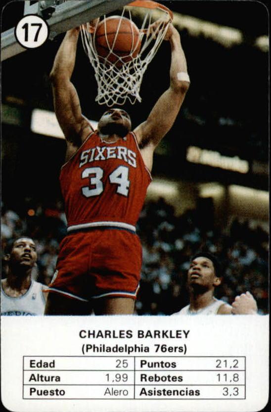 1988 Fournier NBA Estrellas #17 Charles Barkley