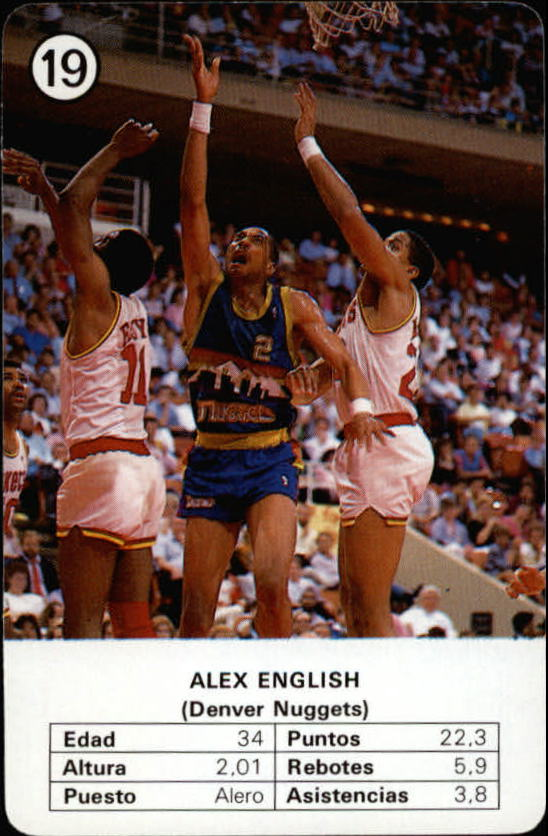 1988 Fournier NBA Estrellas #19 Alex English