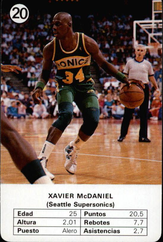 1988 Fournier NBA Estrellas #20 Xavier McDaniel