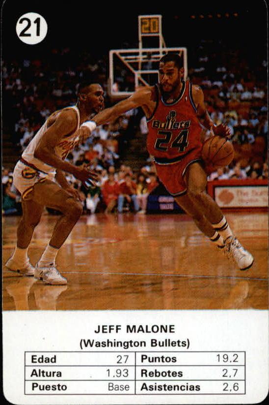 1988 Fournier NBA Estrellas #21 Jeff Malone
