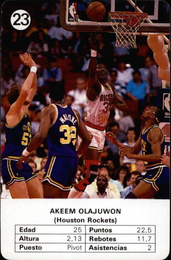 1988 Fournier NBA Estrellas #23 Hakeem Olajuwon