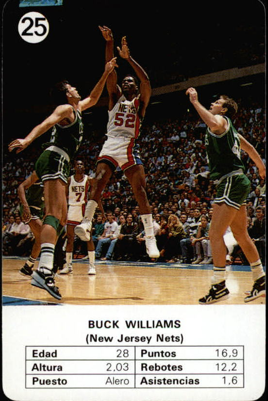 1988 Fournier NBA Estrellas #25 Buck Williams