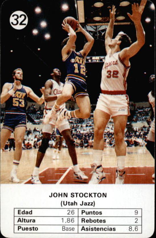 1988 Fournier NBA Estrellas #32 John Stockton