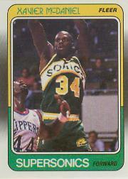 1988-89 Fleer #108 Xavier McDaniel