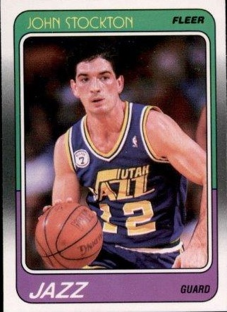 1988-89 Fleer #115 John Stockton RC