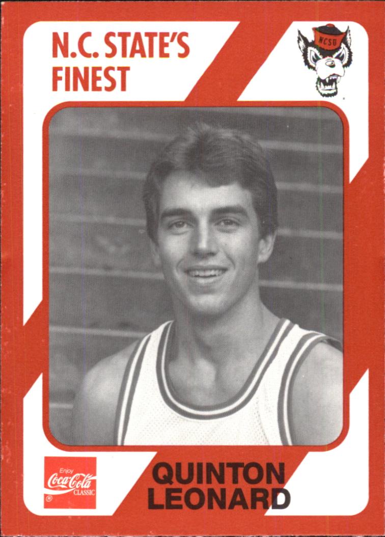 1989 North Carolina State Collegiate Collection #109 Quinton Leonard
