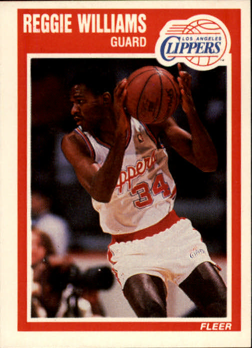 1989-90 Fleer #74 Reggie Williams RC
