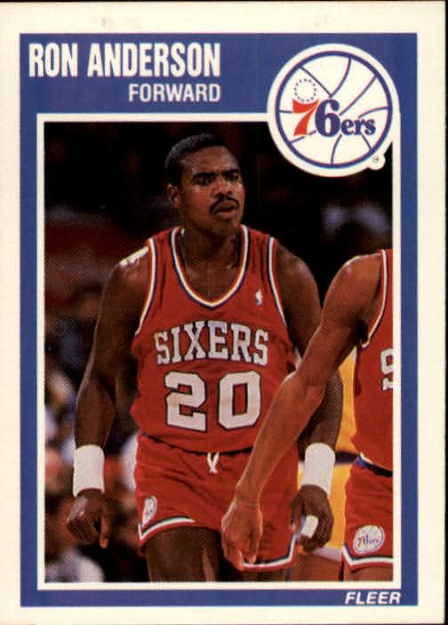 1989-90 Fleer #112 Ron Anderson RC