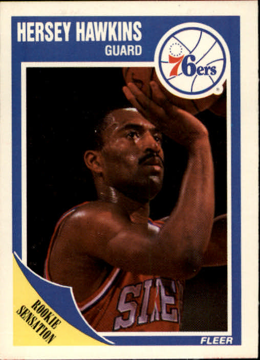 1989-90 Fleer #117 Hersey Hawkins UER RC/Born 9/29/65, should be 9/9/65)
