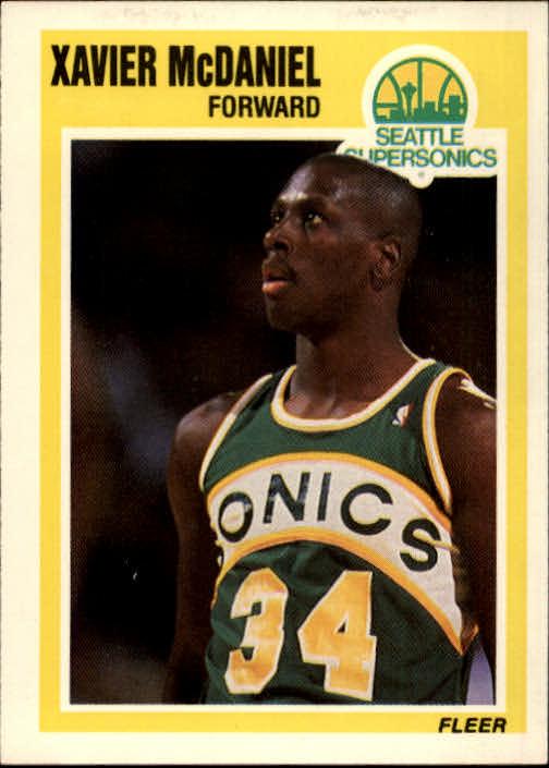 1989-90 Fleer #148 Xavier McDaniel UER/(All-Rookie team in 1985, not 1988)