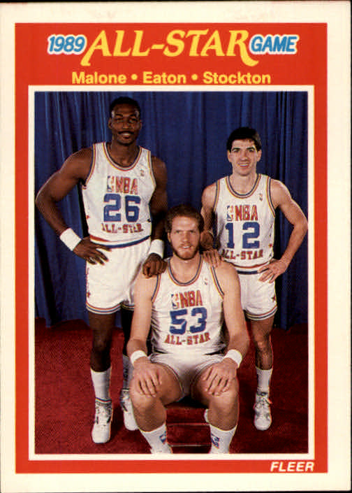 1989-90 Fleer #163 Karl Malone AS/John Stockton/Mark Eaton