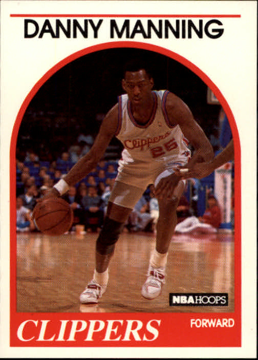 1989-90 Hoops #40 Danny Manning UER RC/(Missing 1988 in draft info)