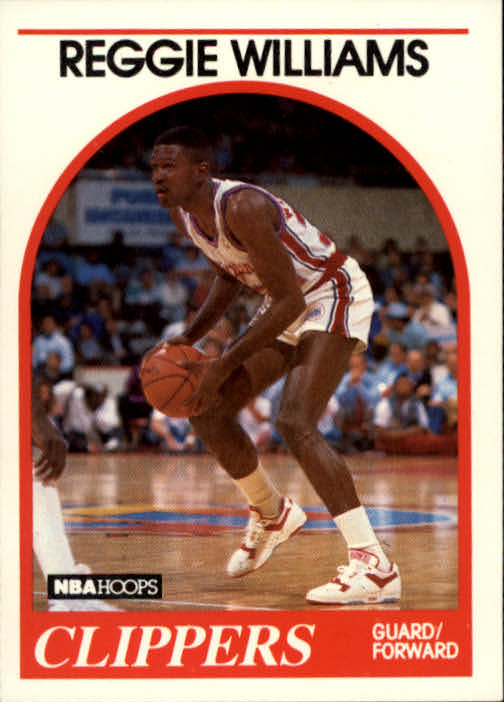 1989-90 Hoops #128 Reggie Williams RC