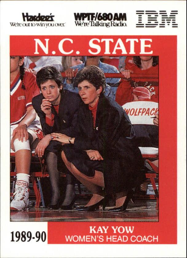 1989-90 NC STATE Kay Yow Card Autographs-Original Basketball-NBA