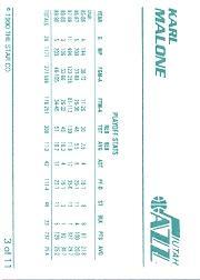 1990 Star Karl Malone #3 Karl Malone/Playoff Stats back image