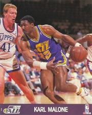 1990 Hoops Action Photos #86 Karl Malone