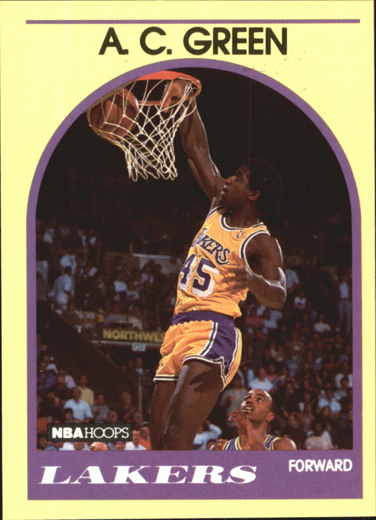 1990 Hoops 100 Superstars #49 A.C. Green