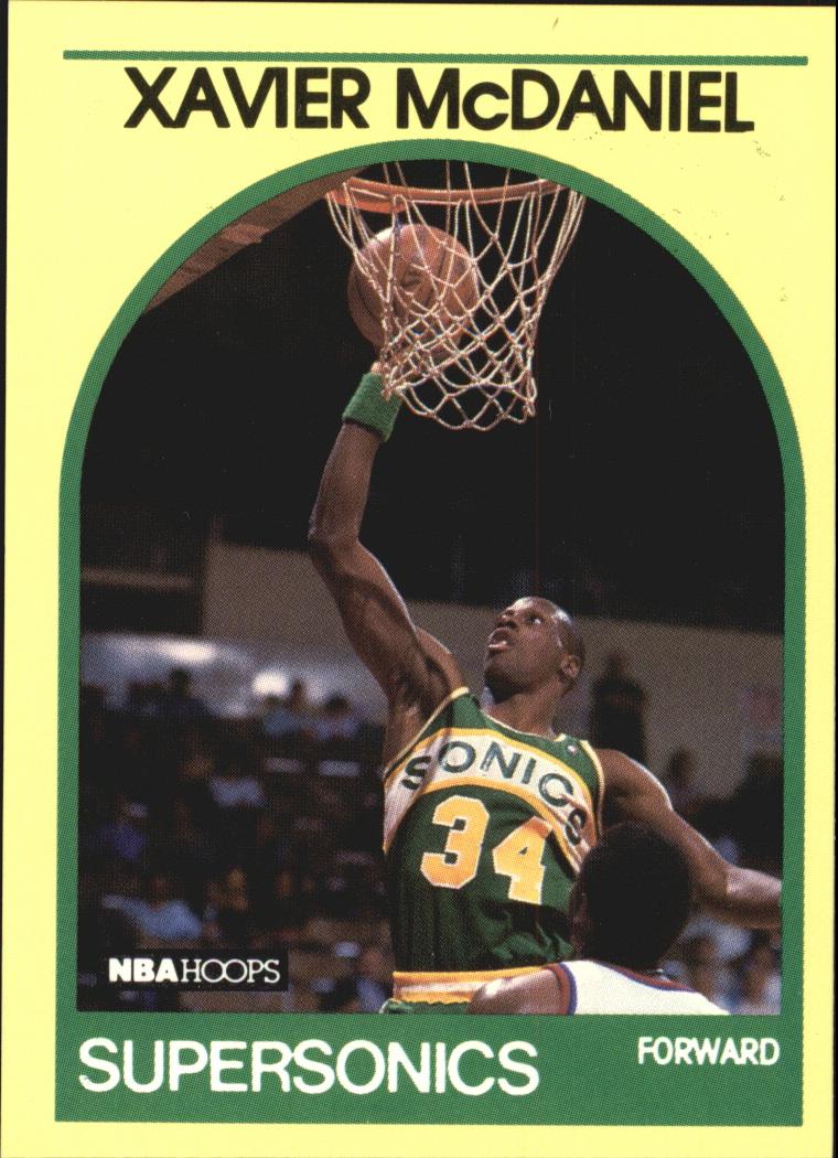 1990 Hoops 100 Superstars #91 Xavier McDaniel