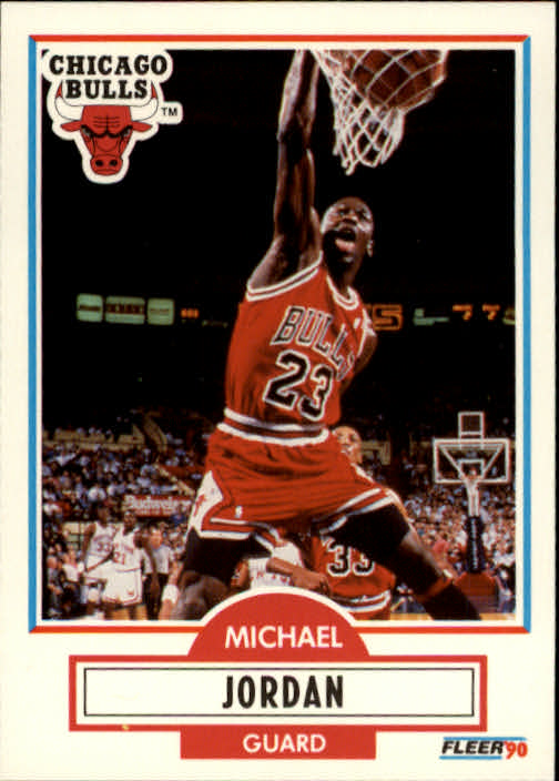 1990-91 Fleer #26 Michael Jordan UER/(Led NBA in scoring 4 years, not 3)