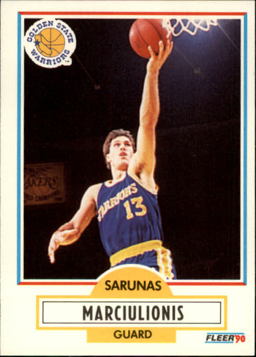 1990-91 Fleer #65 Sarunas Marciulionis RC