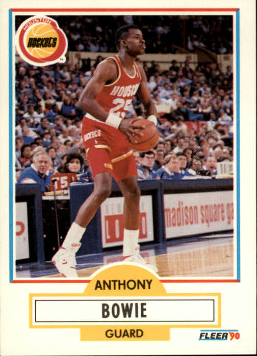 1990-91 Fleer #69 Anthony Bowie UER RC/(Seasons, not seeasons)
