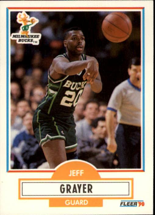 1990-91 Fleer #104 Jeff Grayer RC