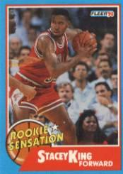 1990-91 Fleer Rookie Sensations #5 Stacey King