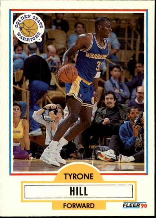 1990-91 Fleer Update #U31 Tyrone Hill RC