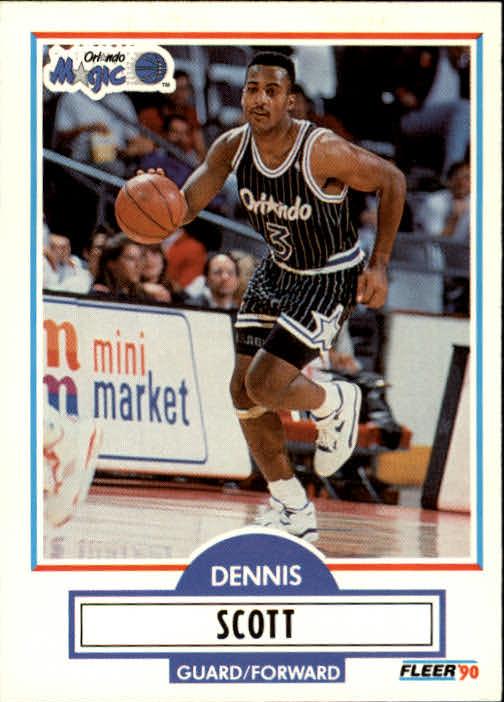 1990-91 Fleer Update #U68 Dennis Scott RC