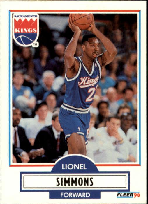 1990-91 Fleer Update #U87 Lionel Simmons RC