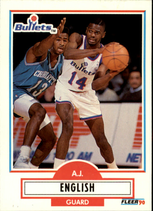 1990-91 Fleer Update #U98 A.J. English RC