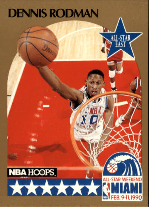 1990-91 Hoops #10 Dennis Rodman AS SP