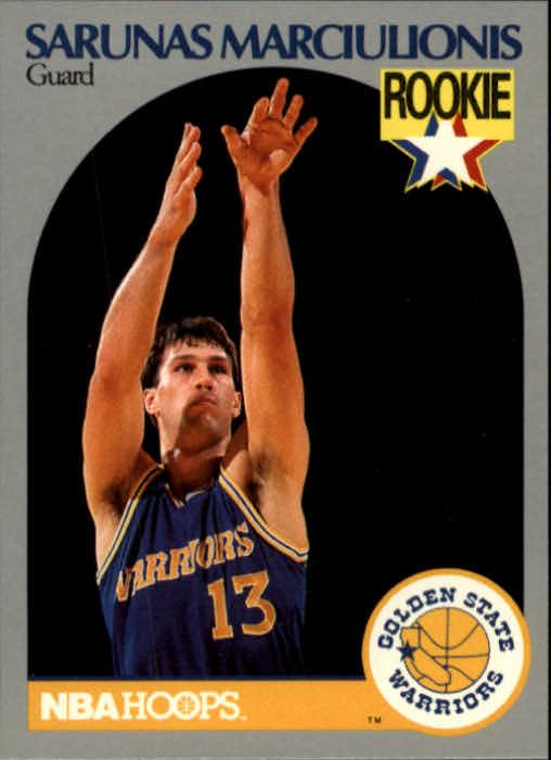 1990-91 Hoops #115 Sarunas Marciulionis RC