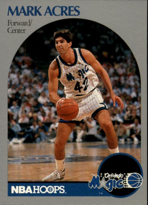 1990-91 NBA Hoops Basketball #213 Mark Acres Orlando Magic ...