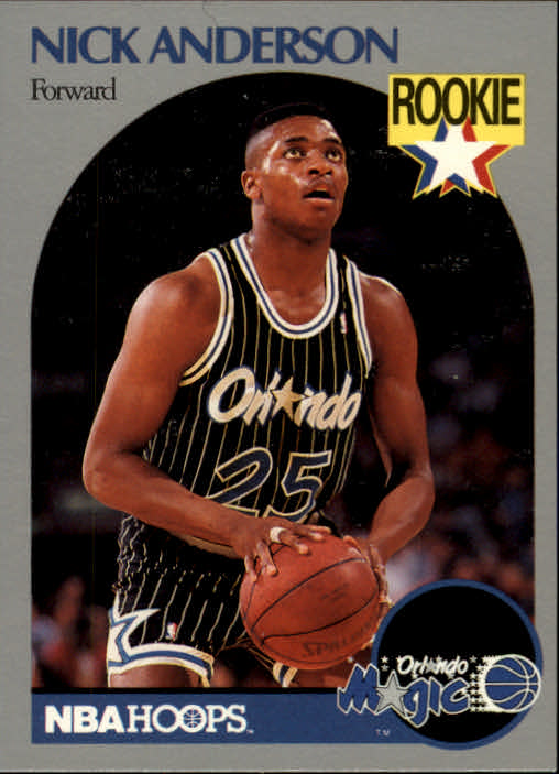 1990-91 Hoops #214 Nick Anderson RC