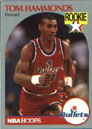 1990-91 Hoops #298B Tom Hammonds RC/(Rookie logo on front)